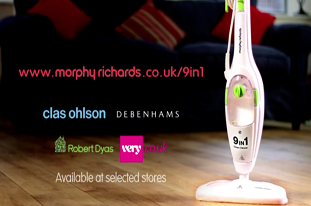 Morphy Richards 9 in 1 Steam Cleaner Advert